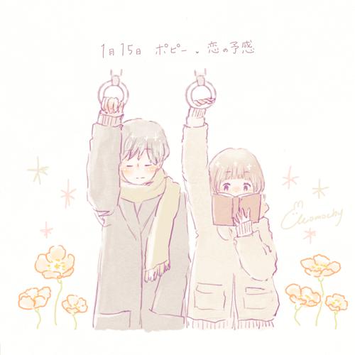 ポピーの花言葉【1月15日の誕生花】フリーアイコン配布*