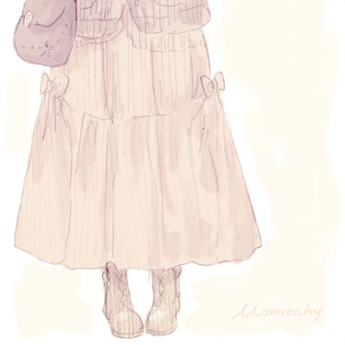 フリーアイコン女の子ロングスカート Momochyのおうち