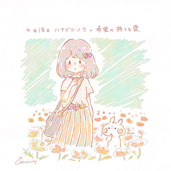 ハナビシソウ花菱草の花言葉4月18日の誕生花フリーアイコン配布
