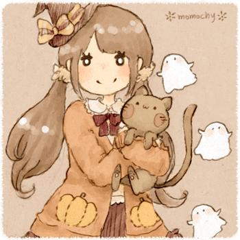 ハロウィンフリーアイコン2*かぼちゃの女の子