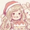 クリスマスフリーアイコン4*パーティーの女の子