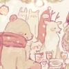 クリスマスフリーアイコン*7パーティの動物たち