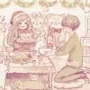 クリスマスフリーアイコン6*パーティの女の子と男の子