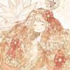 クリスマスフリーアイコン2*ツリーモチーフの女の子