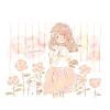 ピンクのバラの花言葉【7月3日の誕生花】フリーアイコン配布*
