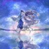 七夕フリーアイコンとヘッダー*織姫と彦星