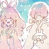 七夕LINEホーム画像4*雲の上の織姫と彦星