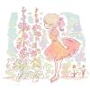 タチアオイ(立葵)の花言葉【8月18日の誕生花】フリーアイコン配布*