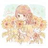 ヒマワリ(向日葵)の花言葉【8月15日の誕生花】フリーアイコン配布*