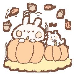 ももちーうさぎの秋とハロウィン