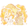 アキノキリンソウ(秋の麒麟草)/アワダチソウ(泡立草)の花言葉【10月19日の誕生花】フリーアイコン配布*