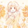 フリーアイコン*秋服の女の子