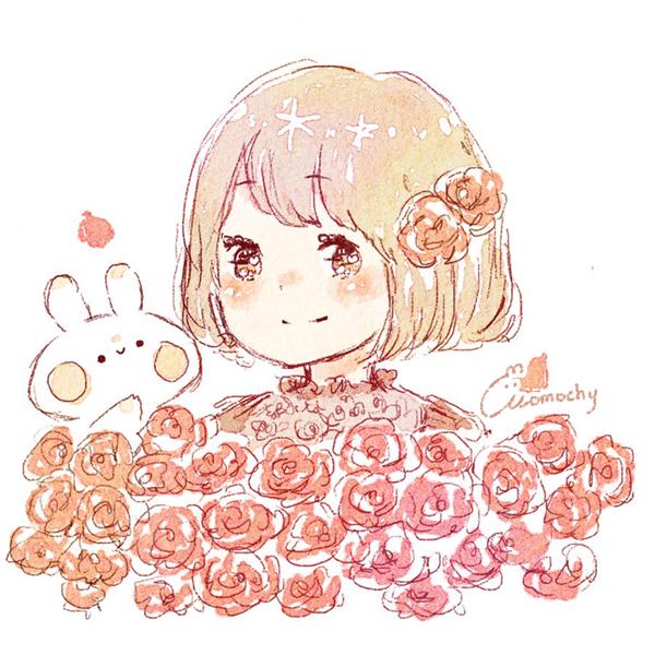 赤いバラ(薔薇)の花言葉【12月25日の誕生花】フリーアイコン配布*