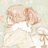 クリスマスフリーアイコン*8 ポニーテールの女の子