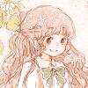 フリーアイコン*春の七草とロングヘアの女の子とうさぎ