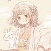 フリーアイコン*羽織と浴衣の女の子とうさぎ