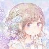 フリーアイコン*紫陽花とラプンツェルヘアの女の子