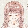 フリーアイコン*星空ワンピースの三つ編みの女の子