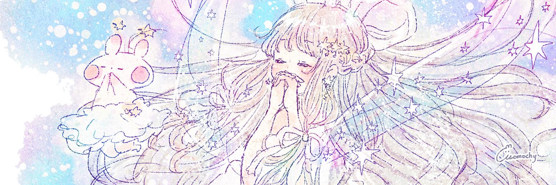 七夕フリーヘッダー5*星と織姫