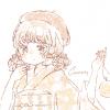 フリーアイコン*浴衣にベレー帽の女の子