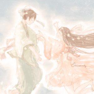 七夕フリーアイコン6*織姫と彦星