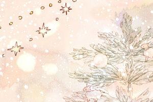 フリーヘッダー*クリスマスローズと女の子