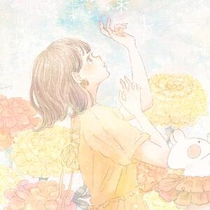 パソコンのデスクトップ画像・壁紙に使える*マリーゴールドの花のイラスト